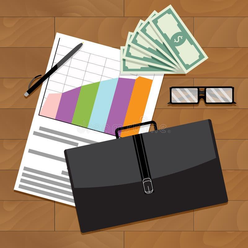 Χρηματοοικονομική σταθερή αύξηση και ανάπτυξη απεικόνιση αποθεμάτων