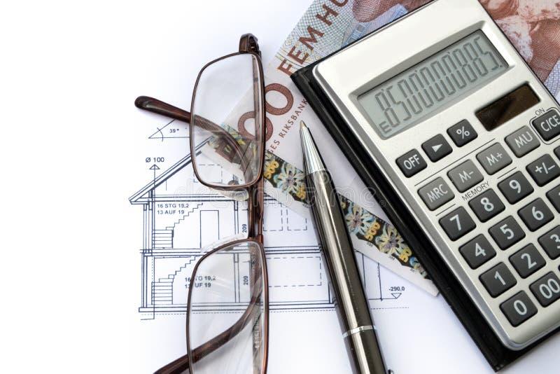 Χρηματοδότηση ακίνητων περιουσιών στη Σουηδία στοκ εικόνα