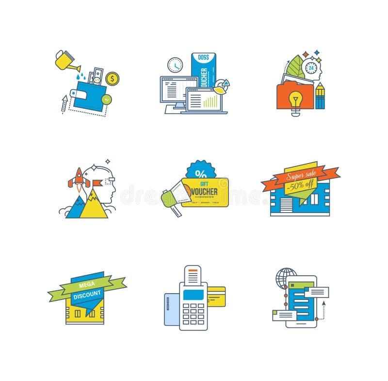 Χρηματοδότηση, οικονομική επένδυση, ανάλυση, εμπορικά συστήματα, εκπτώσεις, πληρωμή, επικοινωνίες απεικόνιση αποθεμάτων