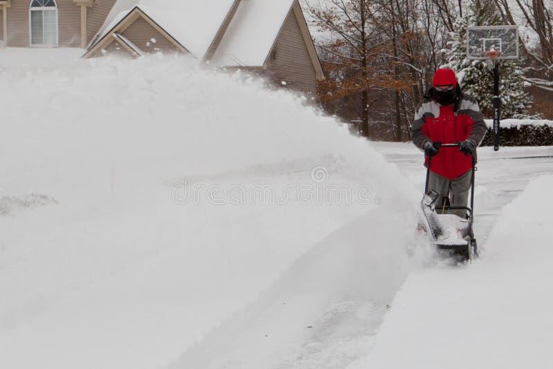χρησιμοποίηση χιονιού ατό&mu στοκ φωτογραφία με δικαίωμα ελεύθερης χρήσης