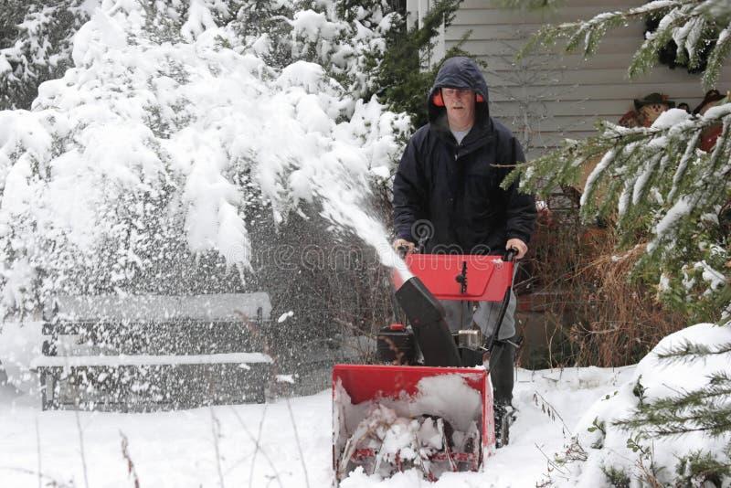 χρησιμοποίηση χιονιού ατό&mu στοκ φωτογραφίες με δικαίωμα ελεύθερης χρήσης