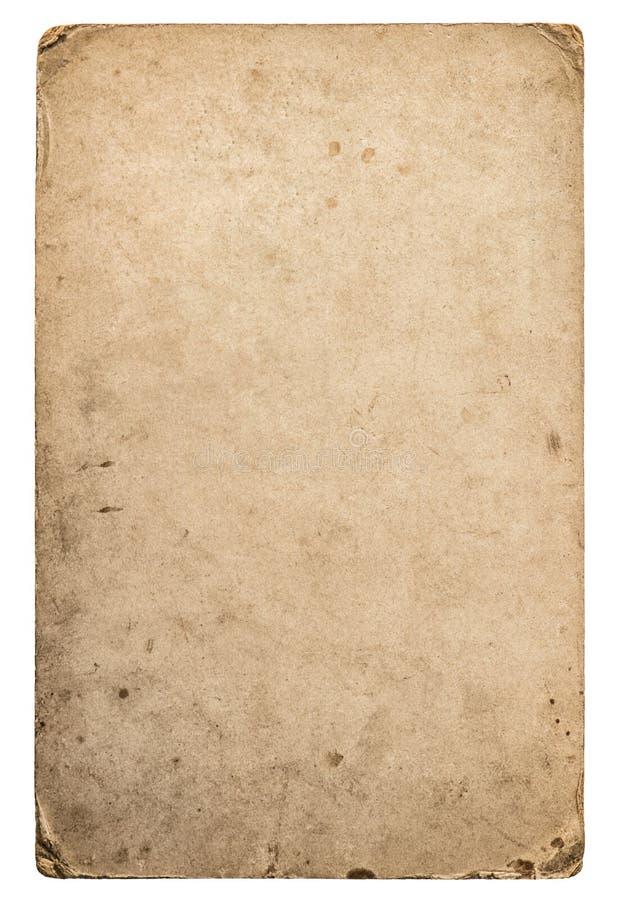 Χρησιμοποιημένη βρώμικη σύσταση εγγράφου Χαρτόνι με τις άκρες στοκ φωτογραφία