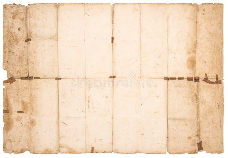 Χρησιμοποιημένη λεκιασμένη σύσταση εγγράφου Παλαιός βρώμικος το φύλλο εγγράφου στοκ εικόνα