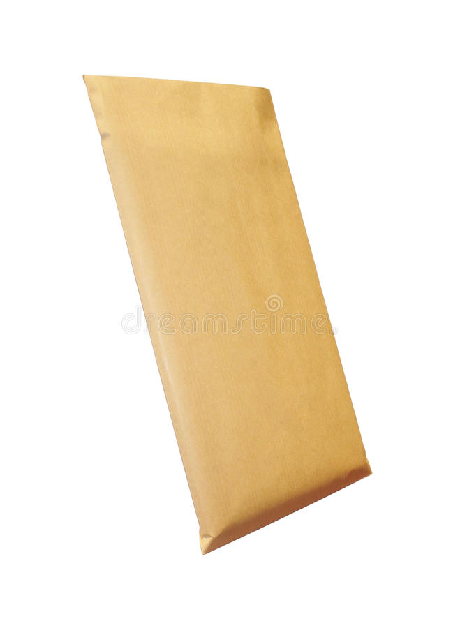 Χρησιμοποιημένος ταχυδρομικός εμπιστευτικός φάκελος στοκ εικόνα