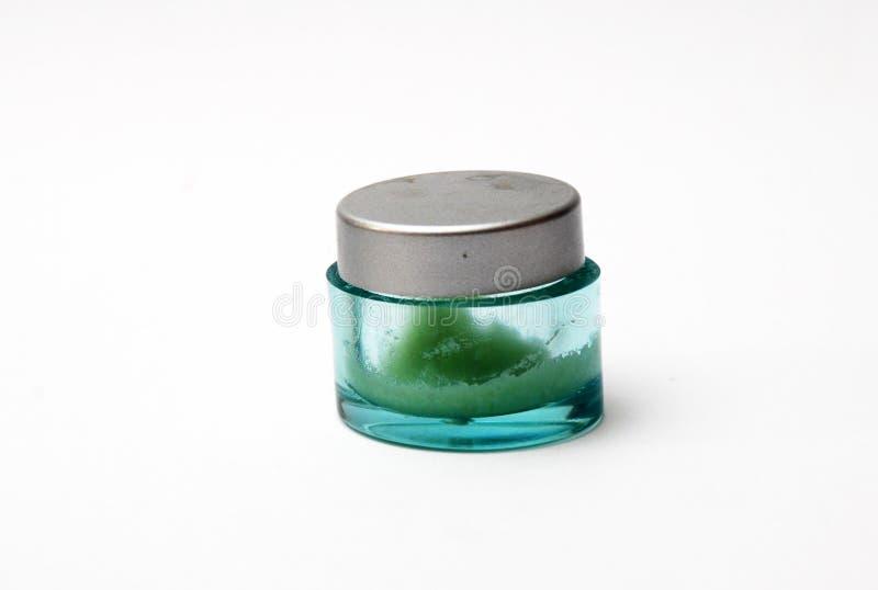 Χρησιμοποιημένο βάζο κρέμας προσώπου στοκ φωτογραφία με δικαίωμα ελεύθερης χρήσης