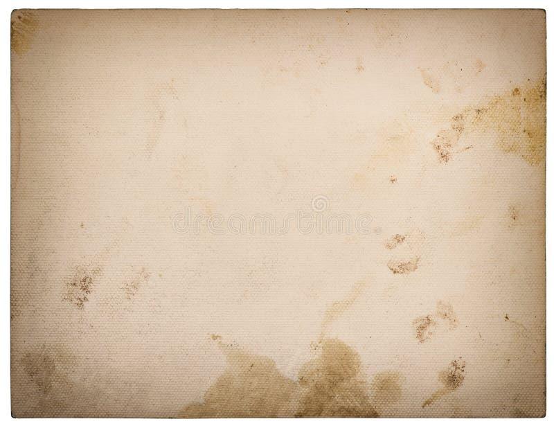 Χρησιμοποιημένο κατασκευασμένο χαρτόνι εγγράφου που απομονώνεται στο λευκό αναδρομικό ύφος στοκ φωτογραφία με δικαίωμα ελεύθερης χρήσης