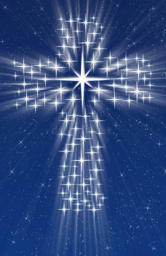 χριστιανικά διαγώνια αστέ&rho διανυσματική απεικόνιση