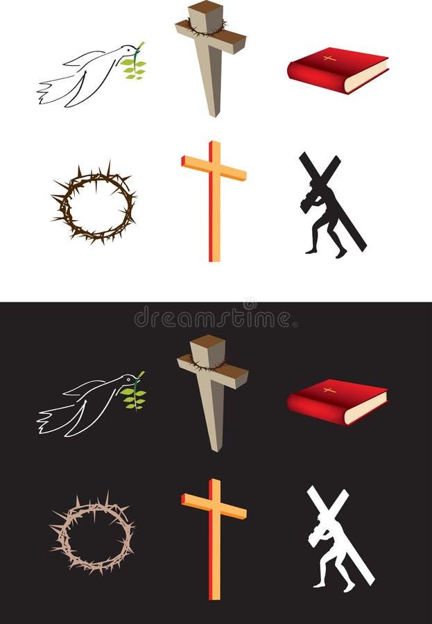 χριστιανικά εικονίδια διανυσματική απεικόνιση