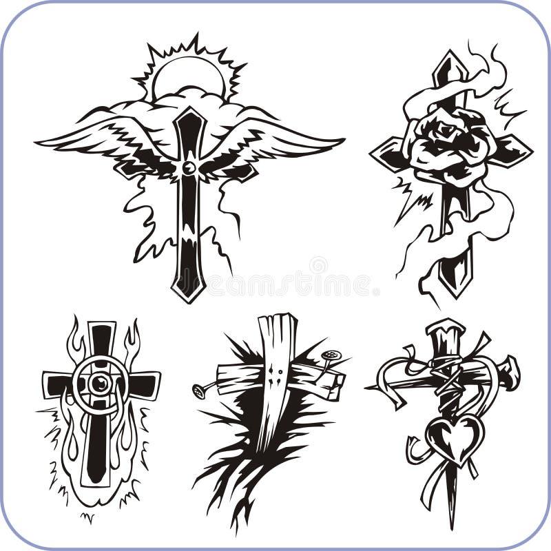Χριστιανικά σύμβολα - διανυσματική απεικόνιση. ελεύθερη απεικόνιση δικαιώματος