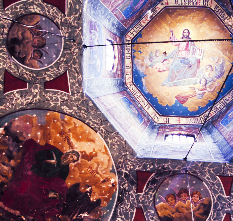 χριστιανικές τοιχογραφί&ep στοκ εικόνες με δικαίωμα ελεύθερης χρήσης