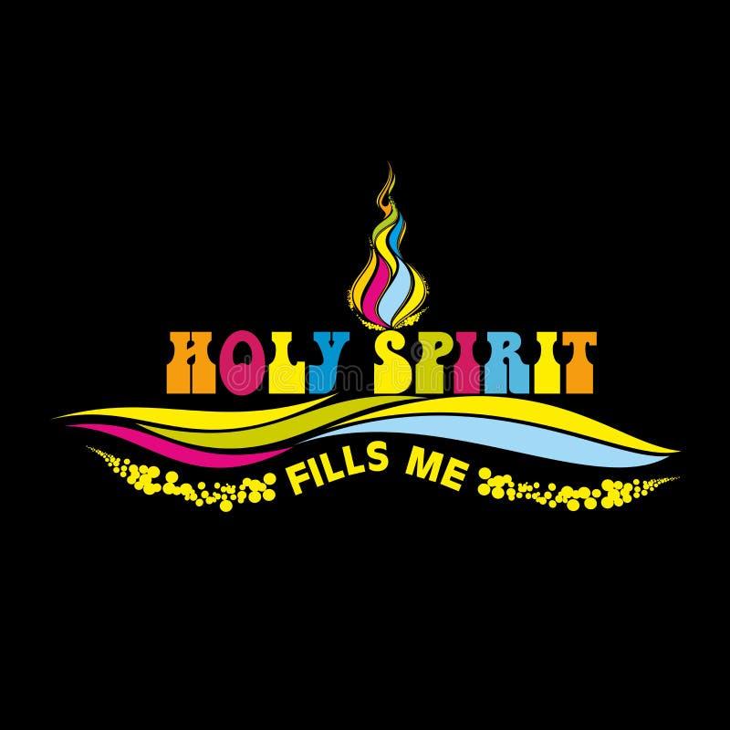 Χριστιανική απεικόνιση Το ιερό πνεύμα, με γεμίζει ελεύθερη απεικόνιση δικαιώματος
