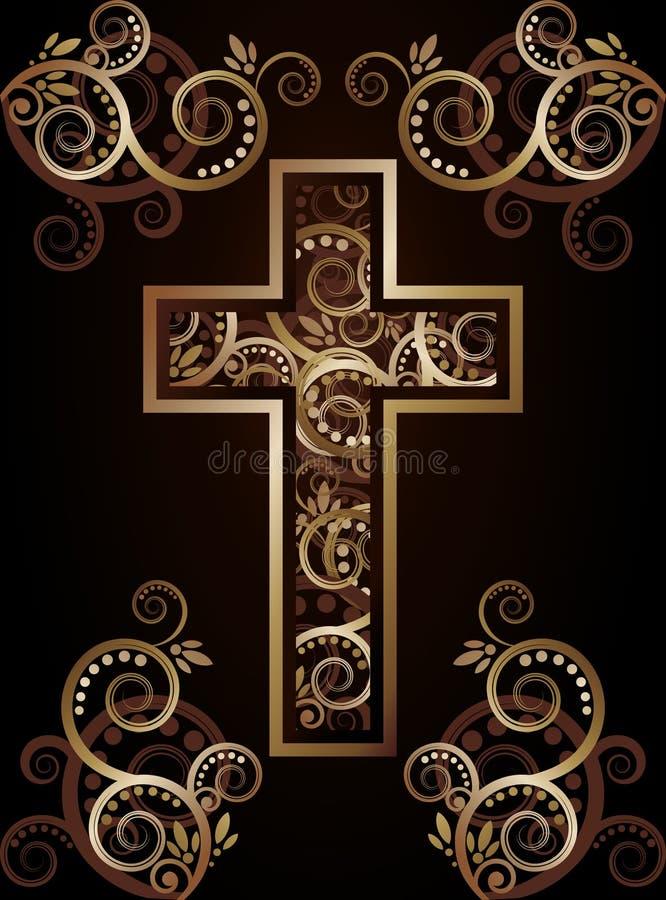 Χριστιανική διαγώνια σκιαγραφία διανυσματική απεικόνιση