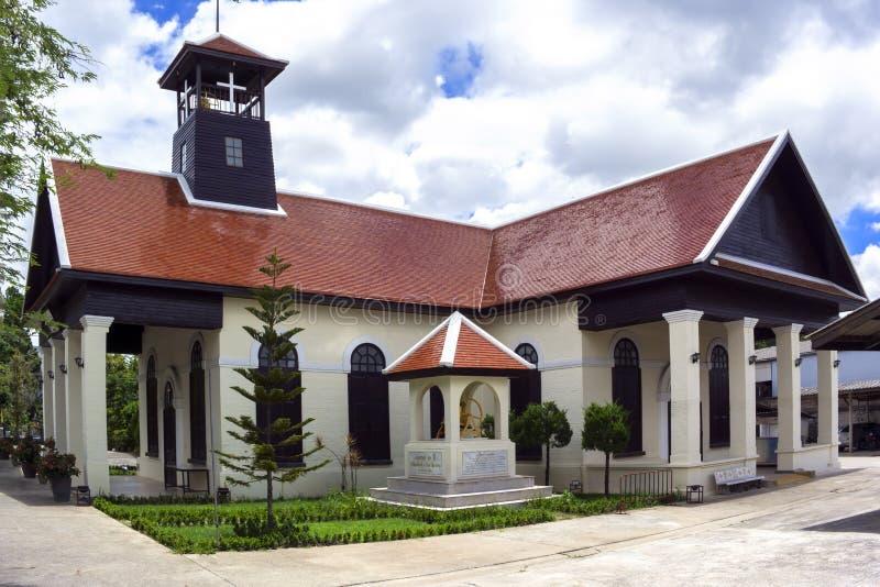 Χριστιανική εκκλησία σε Chiang Rai στοκ εικόνα με δικαίωμα ελεύθερης χρήσης