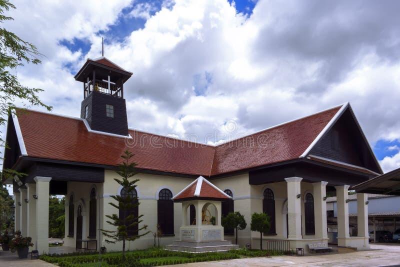 Χριστιανική εκκλησία στην πόλη Chiang Rai στοκ φωτογραφίες με δικαίωμα ελεύθερης χρήσης
