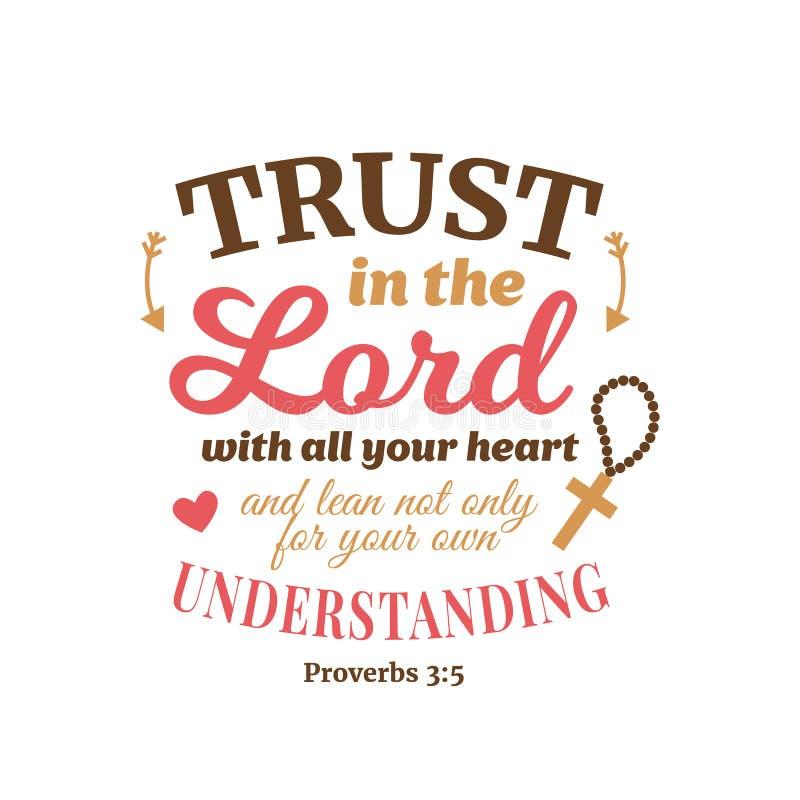 Χριστιανική σύνθεση εγγραφής παροιμίας απεικόνιση αποθεμάτων