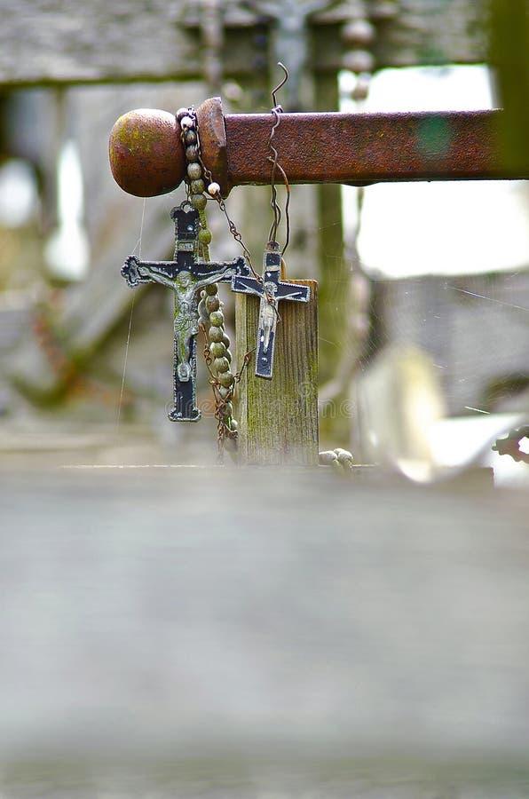 Χριστιανικοί σταυροί με την εικόνα του Ιησού στοκ φωτογραφία