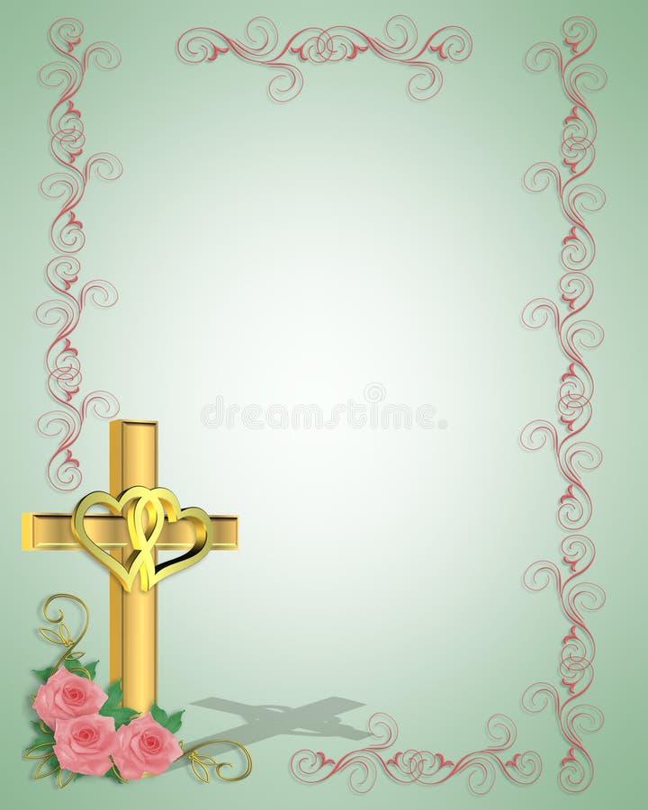 χριστιανικός διαγώνιος γάμος πρόσκλησης διανυσματική απεικόνιση
