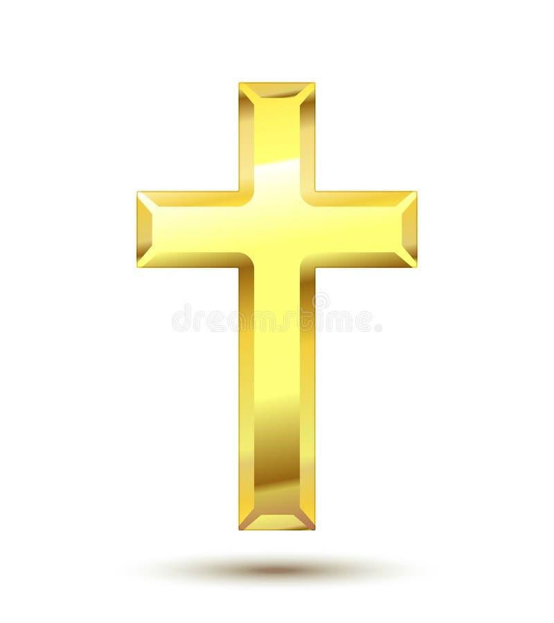 Χριστιανικός σταυρός διανυσματική απεικόνιση
