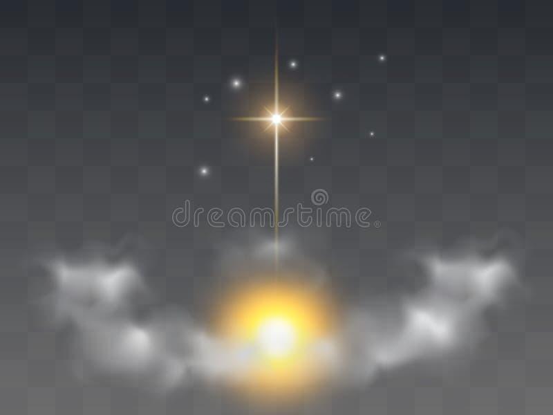 Χριστιανικό θρησκευτικό σχέδιο για τον εορτασμό Πάσχας, Χριστούγεννα διανυσματική απεικόνιση