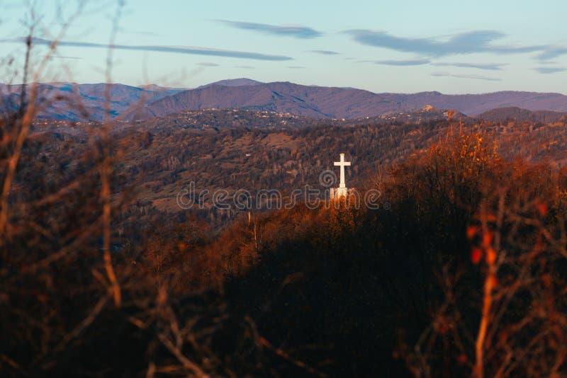 χριστιανικό διαγώνιο μνημ&epsi στοκ φωτογραφία με δικαίωμα ελεύθερης χρήσης