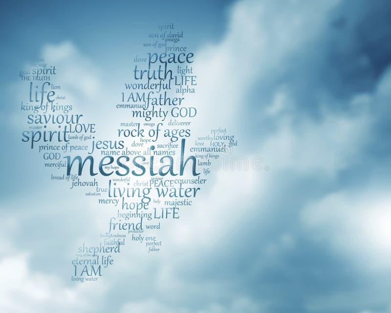 χριστιανικό κείμενο περιστεριών στοκ εικόνες