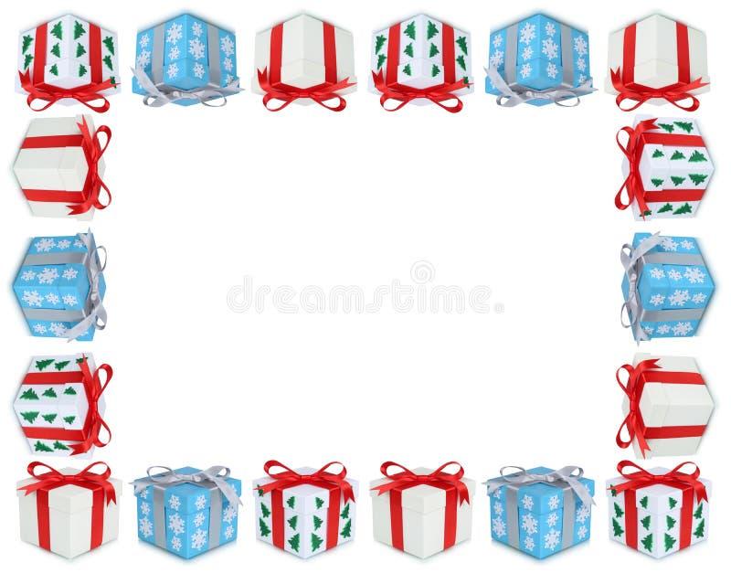Χριστουγέννων δώρων δώρων διαστημικό isol αντιγράφων πλαισίων κιβωτίων παρόν copyspace διανυσματική απεικόνιση
