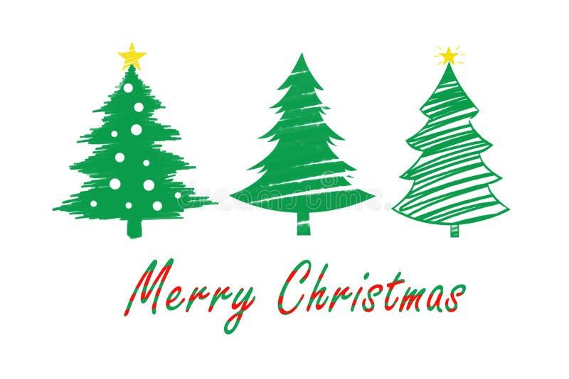 Χριστουγεννιάτικα δέντρα Illustraction στοκ φωτογραφίες