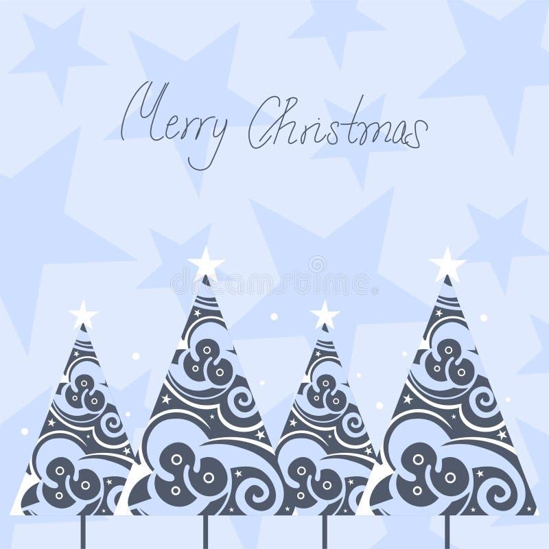 χριστουγεννιάτικα δέντρ&alph απεικόνιση αποθεμάτων