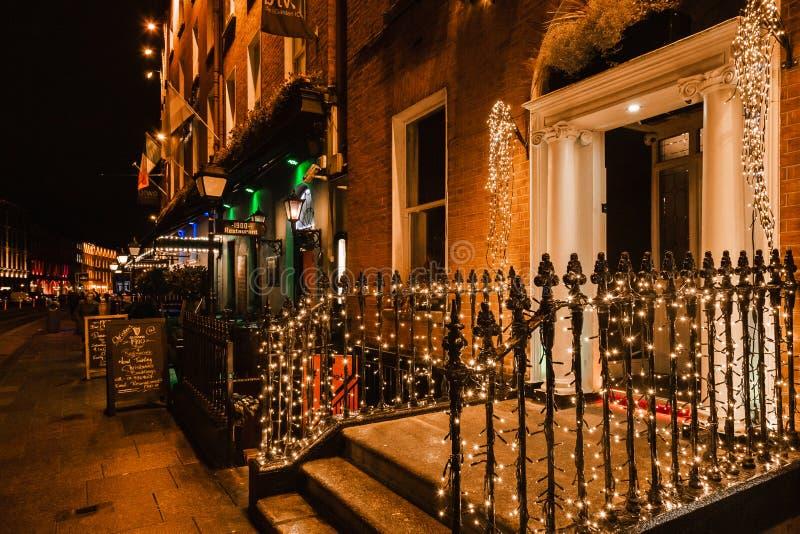 Χριστουγεννιάτικα φώτα στην οδό Δουβλίνου στοκ φωτογραφία με δικαίωμα ελεύθερης χρήσης