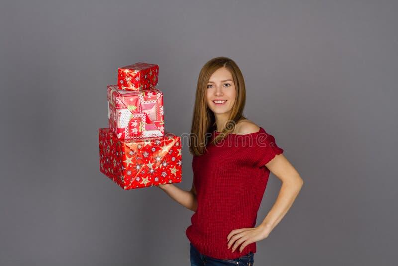 χριστουγεννιάτικα δώρα π&o στοκ φωτογραφία