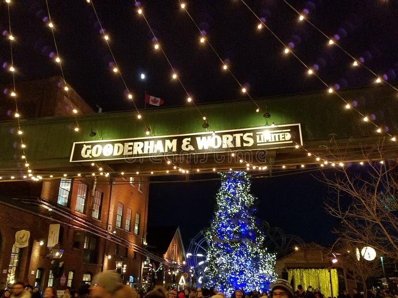 Χριστουγεννιάτικη αγορά του Τορόντο στοκ φωτογραφία με δικαίωμα ελεύθερης χρήσης