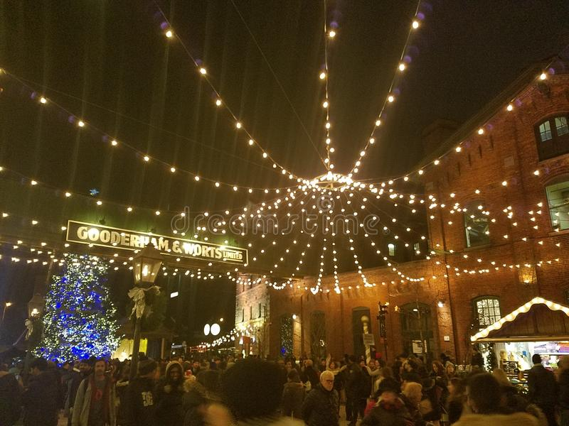 Χριστουγεννιάτικη αγορά του Τορόντο στοκ εικόνες