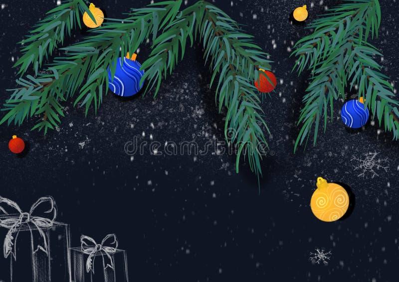 Χριστουγεννιάτικη ταπετσαρία ή φόντο για τη σχεδίαση με χριστουγεννιάτικο δέντρο, πορτοκαλί στοκ φωτογραφία με δικαίωμα ελεύθερης χρήσης