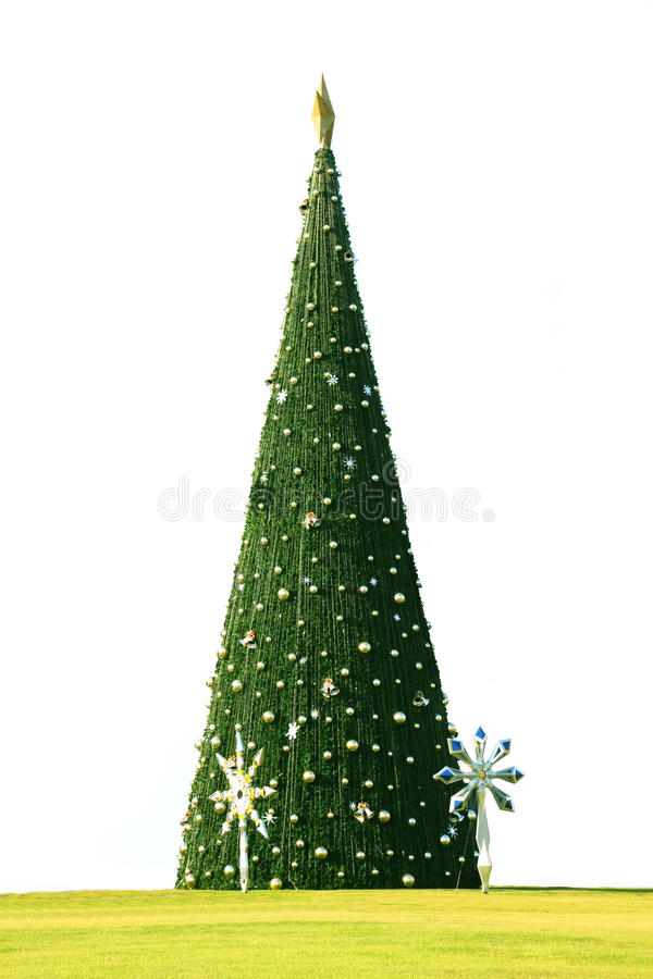Χριστουγεννιάτικου δέντρου εδώ απεικόνιση αποθεμάτων