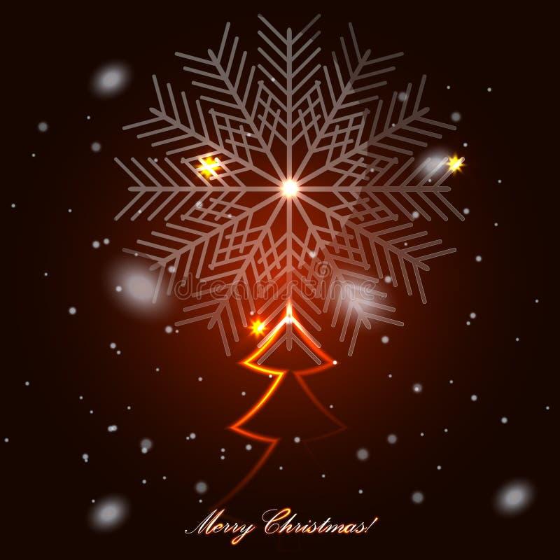 Χριστουγεννιάτικο δέντρο γυαλιού διανυσματική απεικόνιση
