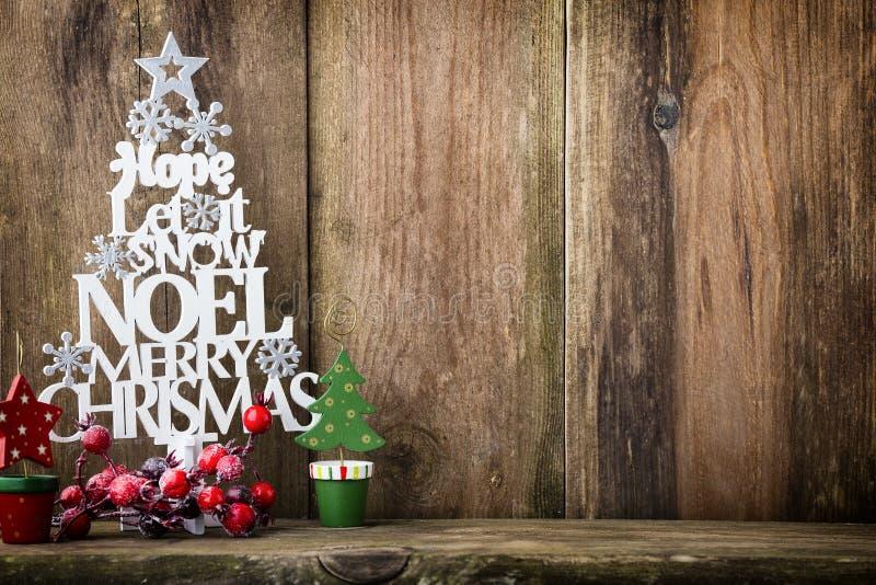 Χριστουγεννιάτικο δέντρο, επιθυμία Noel, ερυθρελάτες των επιστολών στοκ εικόνες