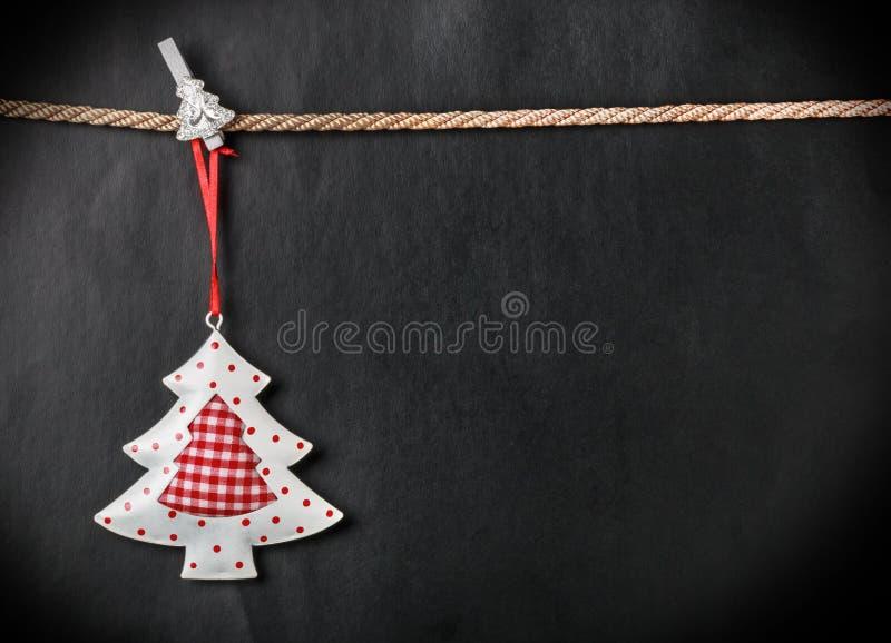 Χριστουγεννιάτικο δέντρο και θέση παιχνιδιών για το κείμενο στοκ εικόνα με δικαίωμα ελεύθερης χρήσης