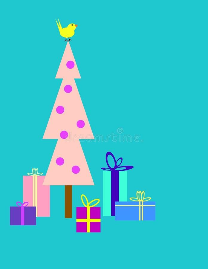 Χριστουγεννιάτικο δέντρο και δώρα απεικόνιση αποθεμάτων