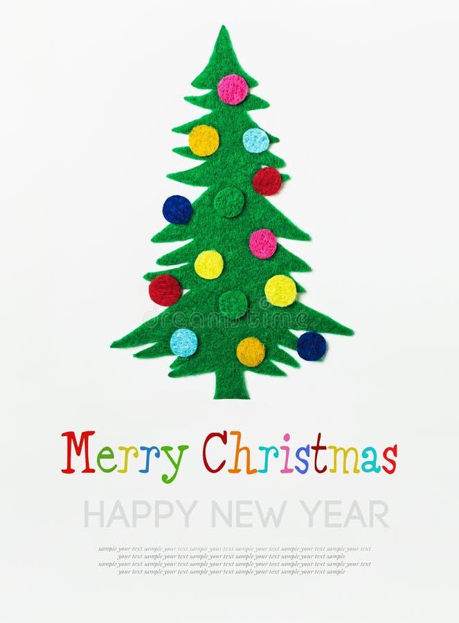 Χριστουγεννιάτικο δέντρο με τις σφαίρες που γίνονται †‹â€ ‹αισθητός απεικόνιση αποθεμάτων
