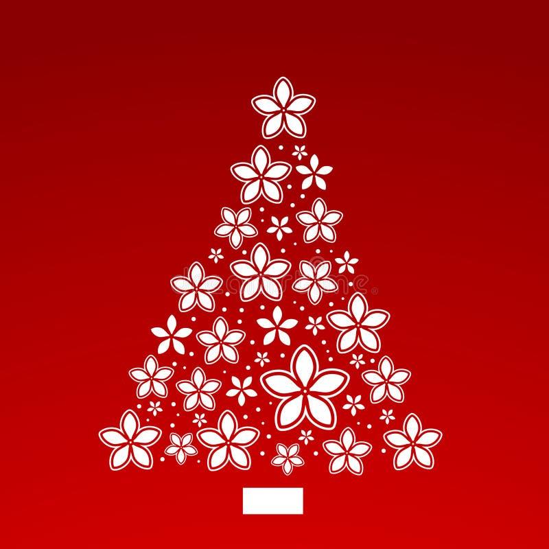 Χριστουγεννιάτικο δέντρο λουλουδιών Poinsettia ελεύθερη απεικόνιση δικαιώματος