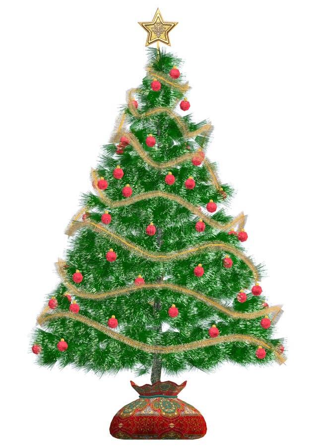 Χριστουγεννιάτικο δέντρο ελεύθερη απεικόνιση δικαιώματος