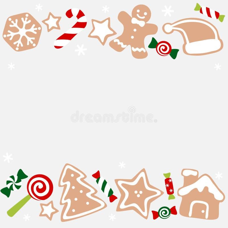 Χριστουγεννιάτικο γλυκό και μπισκότα απεικόνιση αποθεμάτων