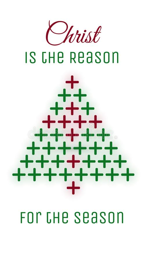 Χριστουγεννιάτικο δέντρο και διαγώνια κάρτα έννοιας ή ταπετσαρία iphone απεικόνιση αποθεμάτων