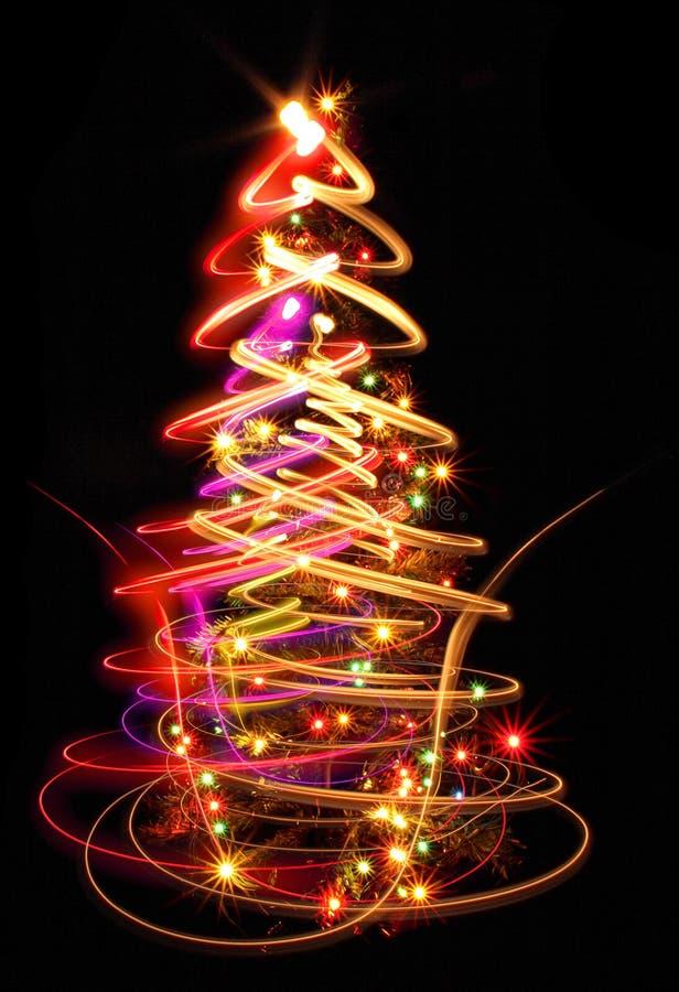 χριστουγεννιάτικο δέντρο χρώματος ελεύθερη απεικόνιση δικαιώματος