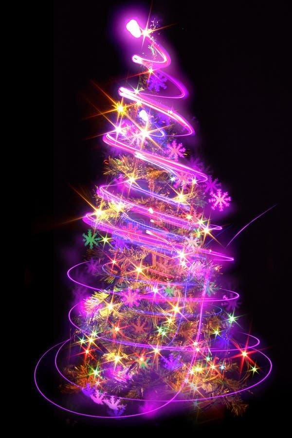 χριστουγεννιάτικο δέντρο χρώματος διανυσματική απεικόνιση
