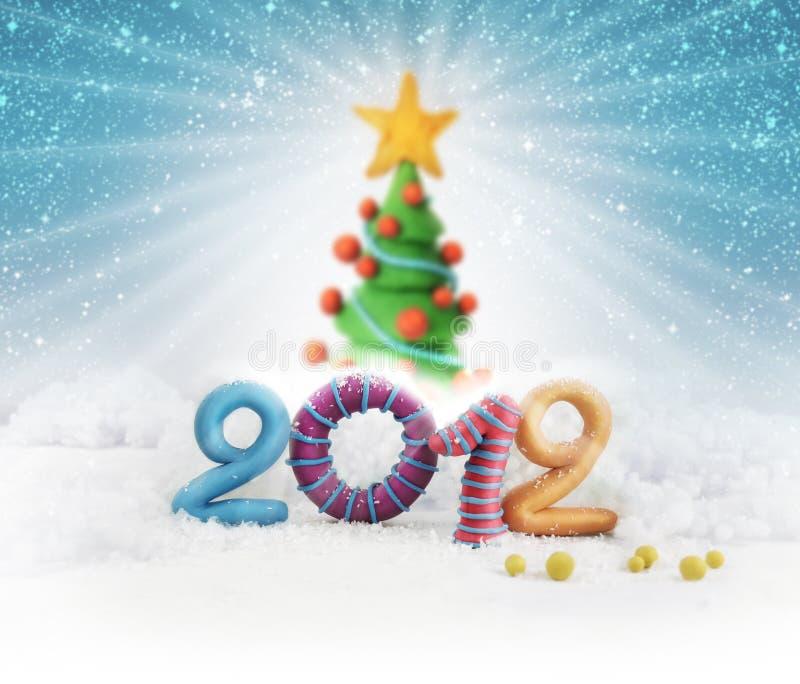 Χριστουγεννιάτικο δέντρο 2012 διανυσματική απεικόνιση