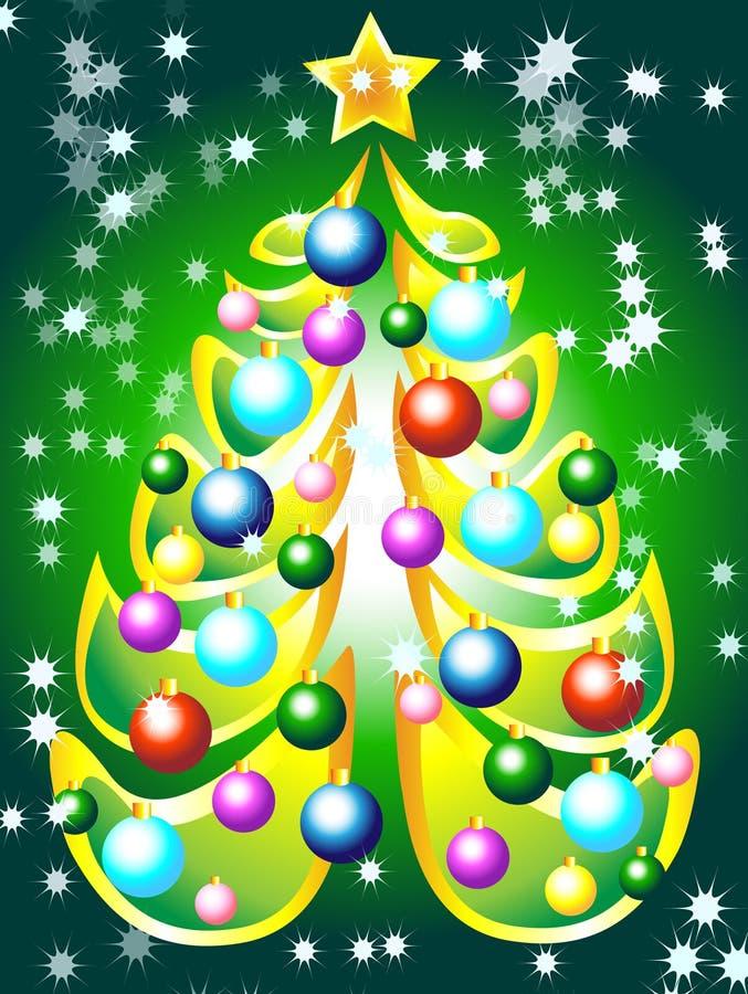 Download χριστουγεννιάτικο δέντρ&om διανυσματική απεικόνιση. εικονογραφία από βακκινίων - 17055916