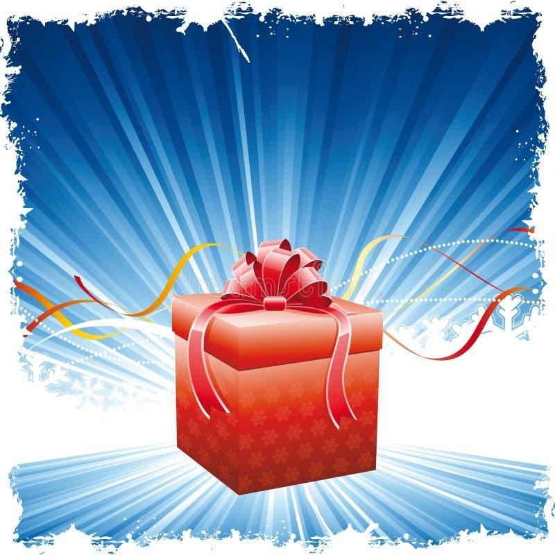 χριστουγεννιάτικο δώρο &a διανυσματική απεικόνιση