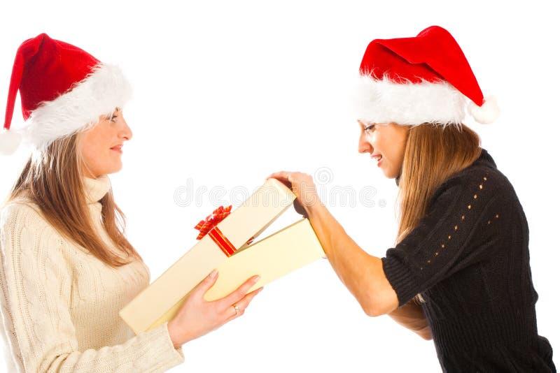 χριστουγεννιάτικο δώρο στοκ εικόνα
