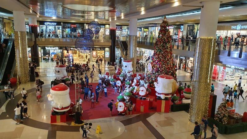 Χριστουγεννιάτικο φεστιβάλ στο εμπορικό κέντρο της πόλης Cebu, Φιλιππίνες στοκ φωτογραφία με δικαίωμα ελεύθερης χρήσης